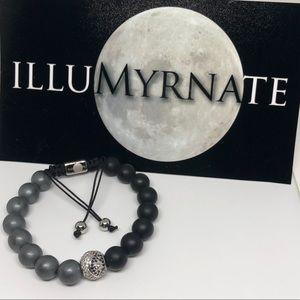 Natural Yinyang Onyx/Hematite Bracelet